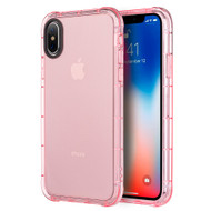 Duraproof Transparent Anti-Shock TPU Case for iPhone X - Pink