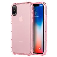Duraproof Transparent Anti-Shock TPU Case for iPhone XS / X - Pink