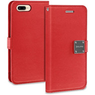 Essential Leather Wallet Case for iPhone 8 Plus / 7 Plus - Red