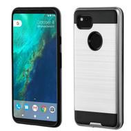 Brushed Hybrid Armor Case for Google Pixel 2 XL - Silver