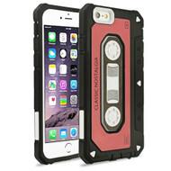 *Sale* Vintage Cassette Anti-Shock Hybrid Armor Case for iPhone 6 Plus / 6S Plus - Red