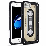 Vintage Cassette Anti-Shock Hybrid Armor Case for iPhone 8 / 7 - Gold