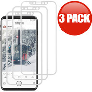 3D Curved Soft Edge Full Coverage Tempered Glass Screen Protector for iPhone X - 3 Pack White