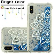 Confetti Quicksand Glitter Transparent Case for iPhone XS / X - Flower Mandala