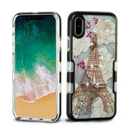TUFF Panoview Diamante Transparent Hybrid Case for iPhone X - Eiffel Tower