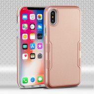 Military Grade Certified TUFF Contempo Hybrid Armor Case for iPhone XS / X - Rose Gold