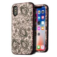 Verge Hybrid Armor Case for iPhone X - Four Leaf Clover Rose Gold