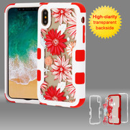 TUFF Vivid Transparent Hybrid Armor Case for iPhone XS / X - Spring Daisies