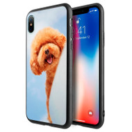 *Sale* Graphic Rubberized Protective Gel Case for iPhone XS / X - Poodle