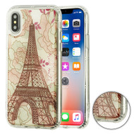 Air Cushion Shockproof Crystal TPU Case for iPhone XS / X - Eiffel Tower