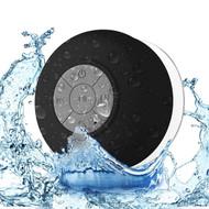 Portable Waterproof Bluetooth Wireless Speaker with Built-In Mic - Black