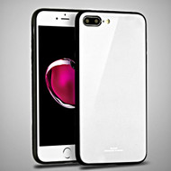 Minimalistic TPU Case with Tempered Glass Backing for iPhone 8 Plus / 7 Plus - White