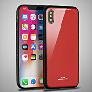 *Sale* Minimalistic TPU Case with Tempered Glass Backing for iPhone XS / X - Red