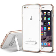 Bumper Shield Clear Transparent TPU Case with Magnetic Kickstand for iPhone 6 Plus / 6S Plus - Rose Gold