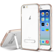 Bumper Shield Clear Transparent TPU Case with Magnetic Kickstand for iPhone 6 / 6S - Rose Gold