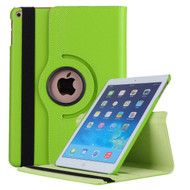 360 Degree Smart Rotating Leather Case for iPad (2018/2017) / iPad Air / iPad Air 2 - Green
