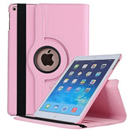 360 Degree Smart Rotating Leather Case for iPad (2018/2017) / iPad Air / iPad Air 2 - Pink