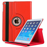 360 Degree Smart Rotating Leather Case for iPad (2018/2017) / iPad Air / iPad Air 2 - Red