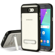 Bumper Shield Case with Stand for Samsung Galaxy J3 (2017) / J3 Emerge / J3 Prime / Amp Prime 2 - Black