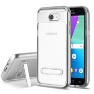 Bumper Shield Case with Stand for Samsung Galaxy J3 (2017) / J3 Emerge / J3 Prime / Amp Prime 2 - Silver