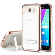 Bumper Shield Case with Stand for Samsung Galaxy J3 (2017) / J3 Emerge / J3 Prime / Amp Prime 2 - Rose Gold