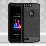 Leather Texture Anti-Shock Hybrid Protection Case for ZTE Blade Z Max - Black