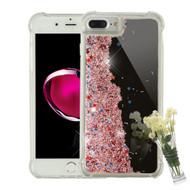 Mirror Finish Confetti Quicksand Glitter Case for iPhone 8 Plus / 7 Plus / 6S Plus / 6 Plus - Rose Gold