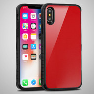 *SALE* Scratch Proof Tempered Glass Tough Anti-Shock Hybrid Protection Case for iPhone XS / X - Red