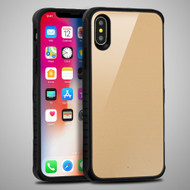 Scratch Proof Tempered Glass Tough Anti-Shock Hybrid Protection Case for iPhone XS / X - Gold