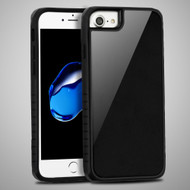 Scratch Proof Tempered Glass Tough Anti-Shock Hybrid Protection Case for iPhone 8 / 7 / 6S / 6 - Black