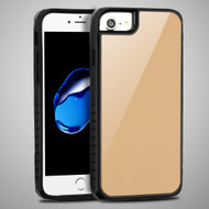 Scratch Proof Tempered Glass Tough Anti-Shock Hybrid Protection Case for iPhone 8 / 7 / 6S / 6 - Gold