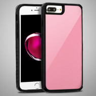 Scratch Proof Tempered Glass Tough Anti-Shock Hybrid Case for iPhone 8 Plus / 7 Plus / 6S Plus / 6 Plus - Pink