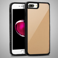 Scratch Proof Tempered Glass Tough Anti-Shock Hybrid Case for iPhone 8 Plus / 7 Plus / 6S Plus / 6 Plus - Gold