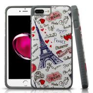 Tough Anti-Shock Triple Layer Hybrid Case for iPhone 8 Plus / 7 Plus / 6S Plus / 6 Plus - Eiffel Tower