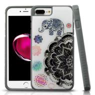 Tough Anti-Shock Triple Layer Hybrid Case for iPhone 8 Plus / 7 Plus / 6S Plus / 6 Plus - Lucky Elephant Mandala