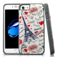 Tough Anti-Shock Triple Layer Hybrid Case for iPhone 8 / 7 / 6S / 6 - Eiffel Tower