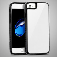 Scratch Proof Tempered Glass Tough Anti-Shock Hybrid Protection Case for iPhone 8 / 7 / 6S / 6 - White