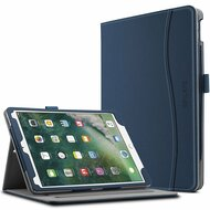 *Sale* Slim Folding Smart Leather Folio Stand Case with Auto Wake / Sleep for iPad Pro 10.5 inch - Navy Blue