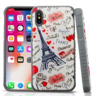 Tough Anti-Shock Triple Layer Hybrid Case for iPhone XS / X - Eiffel Tower