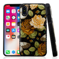 Tough Anti-Shock Triple Layer Hybrid Case for iPhone XS / X - Lucky Flower