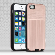 Double Texture Anti-Shock Hybrid Protection Case for iPhone SE / 5S / 5 - Rose Gold