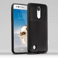 *Sale* Double Texture Anti-Shock Hybrid Protection Case for LG Aristo / Fortune / K8 (2017) / Phoenix 3 - Black