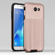 Double Texture Anti-Shock Hybrid Protection Case for Samsung Galaxy J7 (2017) / J7 V / J7 Perx - Rose Gold