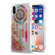 Tuff Lite Quicksand Glitter Transparent Case for iPhone XS / X - Dreamcatcher
