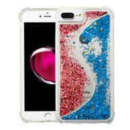 Confetti Dual Chamber Quicksand Glitter Case for iPhone 8 Plus / 7 Plus / 6S Plus / 6 Plus - Rose Gold Blue