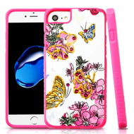 Tough Anti-Shock Hybrid Protection Case for iPhone 8 / 7 / 6S / 6 - Butterfly and Flowers