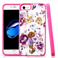 Tough Anti-Shock Hybrid Protection Case for iPhone 8 / 7 / 6S / 6 - Violet Flowers