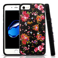 Tough Anti-Shock Hybrid Protection Case for iPhone 8 / 7 / 6S / 6 - Romantic Love Flowers