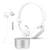 HyperGear Bluetooth Wireless Bundle Gift Set - Silver