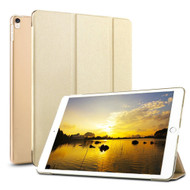 Smart Leather Hybrid Case with Translucent Back Cover and Screen Protector for iPad Pro 10.5 inch - Gold